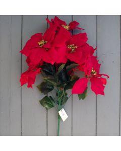 Artificial Poinsettia Bush