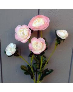 Artificial 59cm Light Pink Ranunculus Spray