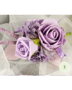 Artificial Lilac Rose Corsage