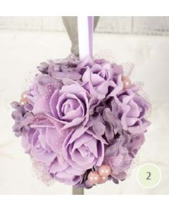 Artificial Lilac Rose and Hydrangea Pomander