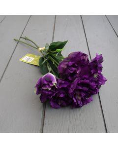 Artificial 33cm Purple Lisianthus Bunch