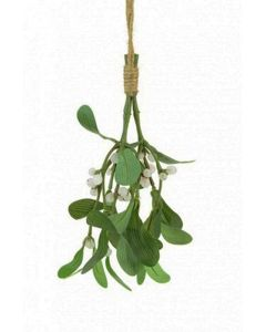 Artificial Mistletoe on String Rope - 20cm