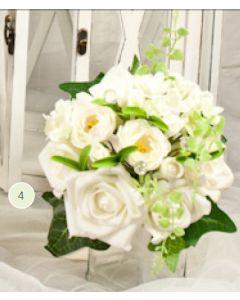 Artificial Cream Rose Medium Bouquet