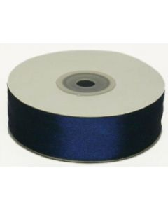 Full 25m Roll of 25mm Navy Blue Satin Ribbon