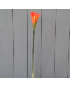 Artificial Large Orange Calla Lily