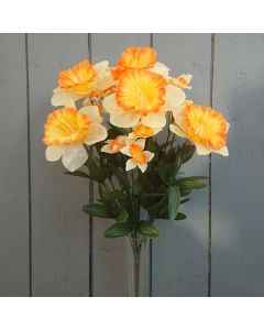 Artificial 44cm Orange Daffodil Bush