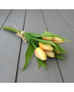 Artificial 32cm Yellow Tulips - Bunch of 6
