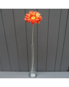 Artificial 55cm Single Orange Gerbera