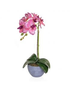 47cm Artificial Orchid Plant in Round Pot