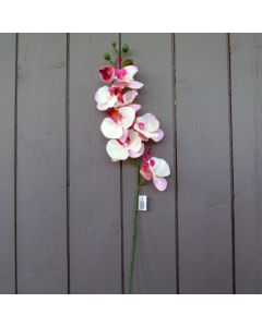 Artificial Ivory and Pink Orchid Spray
