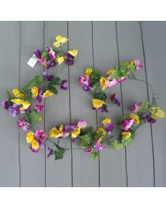 Artificial 180cm Pansy Garland