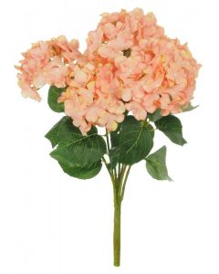 Artificial 56cm Peach Hydrangea Bush