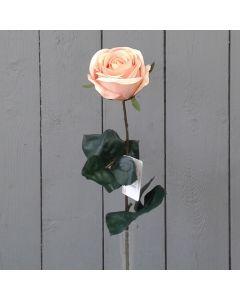 Artificial Single Peach Rose Flower