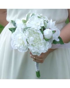 Artificial White Peony Bouquet