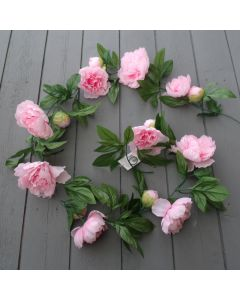 ArtifIcial 6ft Light Pink Peony Garland