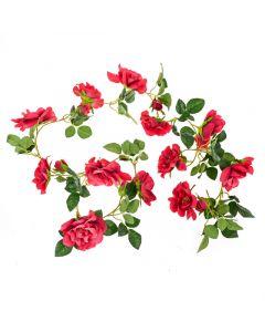 185cm Artificial Red Rose Garland