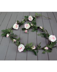 Artificial 180cm Light Pink Rose Garland