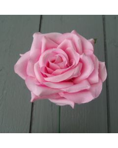 Artificial 24cm Single Pink Rose