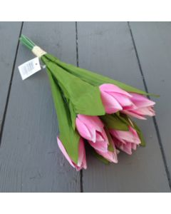 Artificial 30cm Pink Tulips - 7 Stems