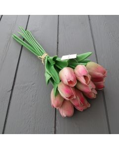 Artificial Pink Real Touch Tulips