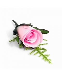 Artificial Pink Rose Buttonhole