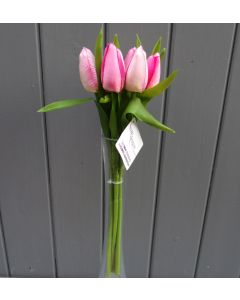 Artificial 32cm Pink Tulips - Bunch of 6