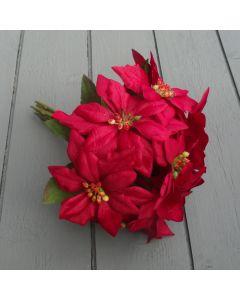 Artificial 28cm Red Poinsettia Bundle