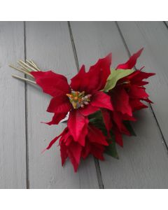 Artificial Poinsettia Bunch