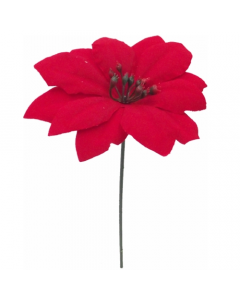 Artificial Poinsettia Pick - Pack of 12