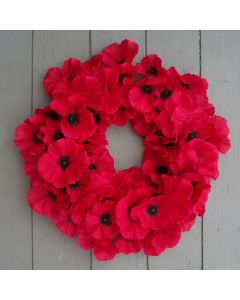 Artificial 40cm Poppy Wreath