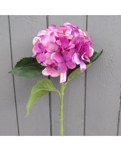 Artificial 51cm Large Lilac / Purple Hydrangea