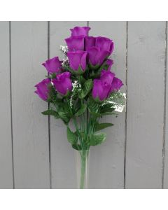 Artificial purple rose bush
