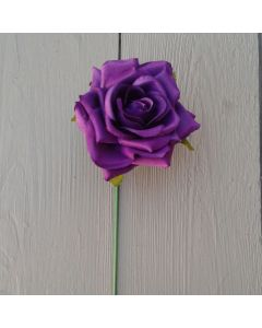 Artificial 24cm Single Purple Rose