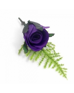 Artificial Purple Rose Buttonhole