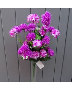 Artificial 40cm Lilac & Purple Chrysanthemums Bush