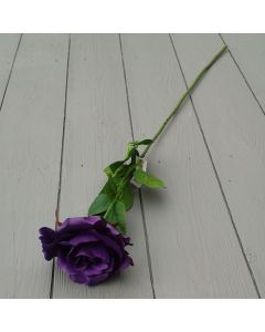 Artificial 60cm Single Elegance Purple Rose