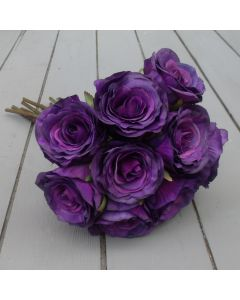 Artificial 40cm Purple Rose Bundle