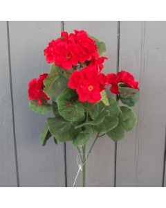 Artificial Red Geranium Bush