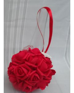 Artificial Red Rose Pomander