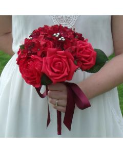 Artificial Red Rose Medium Bouquet