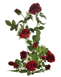 Artificial 180cm Red Rose Garland