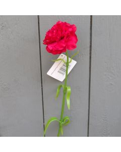 Artificial 61cm Single Red Carnation