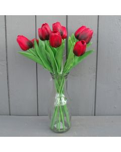 Real Touch Red Tulips in Vase