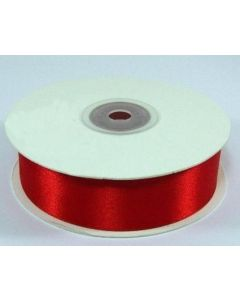 Full 25m Roll of 25mm Red Satin Ribbon