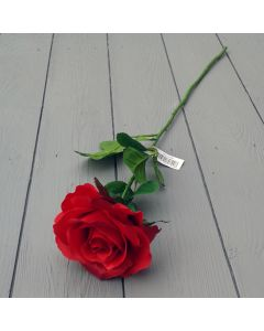 Artificial 60cm Single Elegance Red Rose