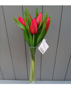 Artificial 32cm Red Tulips - Bunch of 6
