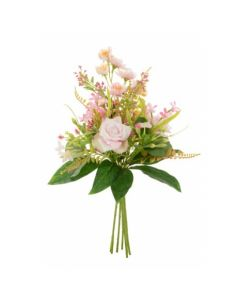 Artificial 30cm Rose and Blossom Bunch