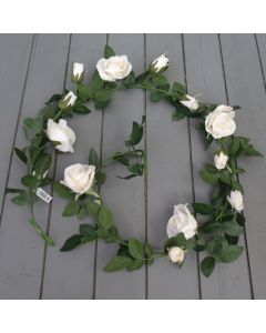 Artificial 180cm Ivory Rose Garland