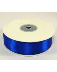 Full 25m Roll of 25mm Royal Blue Satin Ribbon