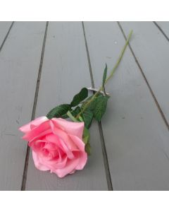 Artificial 54cm Single Pink Rose